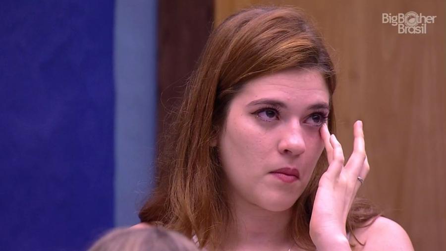 Ana Clara se emociona após ver a formação do sexto paredão  - Reprodução/GloboPlay