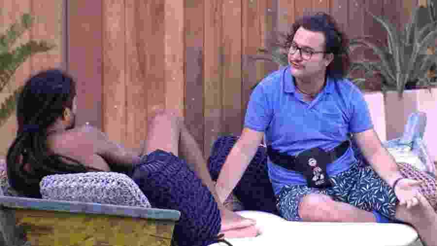 Viegas e Diego passaram a manhã conversando sobre diversos assuntos - Reprodução/GloboPlay