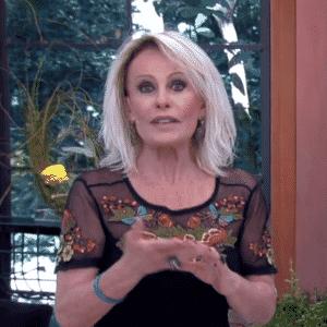 """6.abr.2016 - A apresentadora Ana Maria Braga recebeu Munik, Geralda, Ronan e Cacau no """"Mais Você"""" - Reprodução/ TV Globo"""