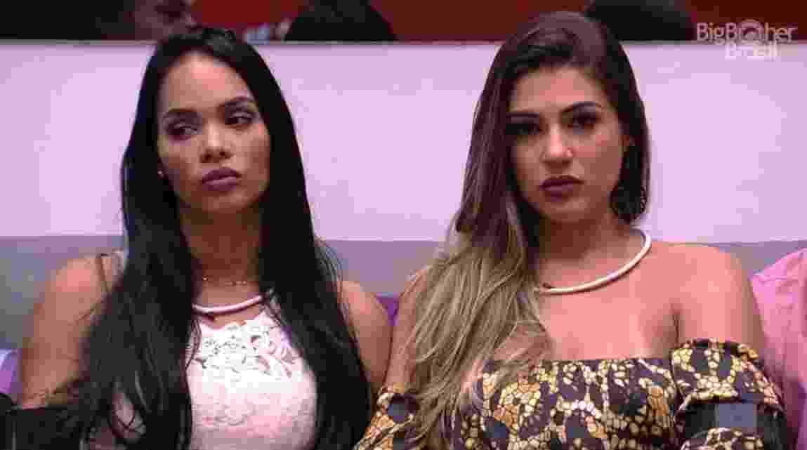 """05.fev.2017 - Vivian e Mayara, participantes do """"BBB17"""" - Reprodução/TV Globo"""