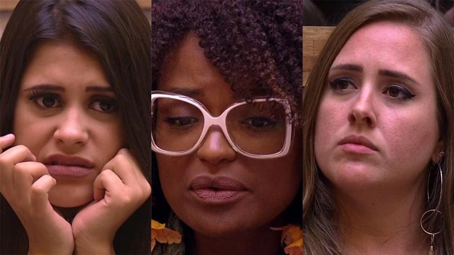 """Ana Paula, Nayara e Patrícia bateram recordes de rejeição no """"BBB18"""" - Reprodução / TV Globo"""