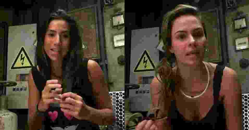 23.fev.2016 - Antes do paredão, Juliana e Ana Paula falam sobre suas expectativas - Reprodução/Globo