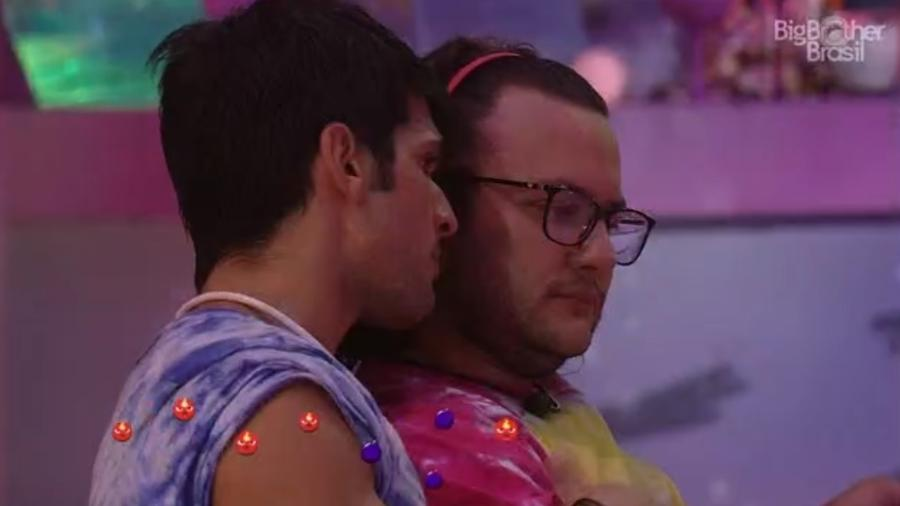 Lucas desabafa com Diego sobre paredão - Reprodução/Tv Globo