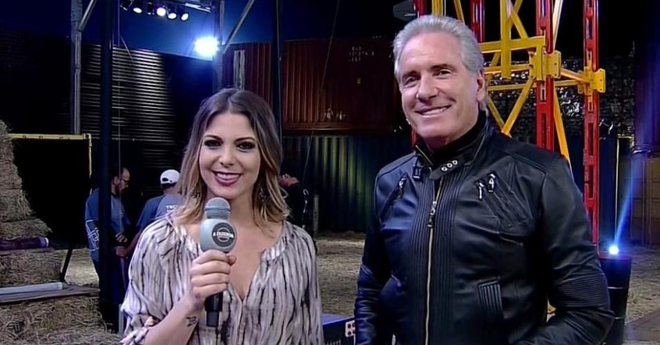 Roberto Justos e Sheila Mello na abertura de