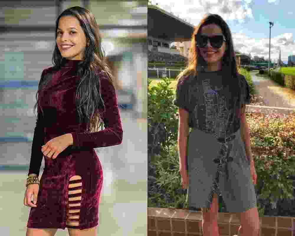 """Antes de depois """"BBB17"""" mayla - Divulgação/Globo e Reprodução/Instagram"""