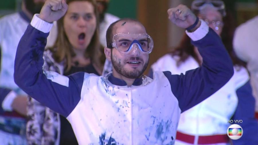 """Mahmoud vence a primeira prova do líder do """"BBB18"""" - Reprodução/TvGlobo"""