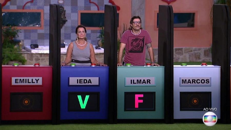 Ilmar acerta a última resposta e se torna o líder da semana - Reprodução/TV Globo