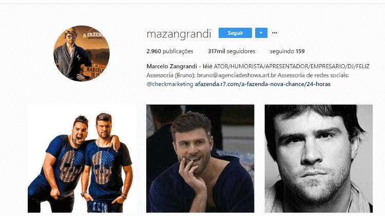Reprodução/Instagram/mazangrandi