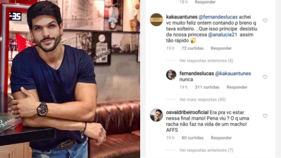 Lucas responde seguidor, dizendo que não desistiu da ex-noiva - Reprodução/Instagram