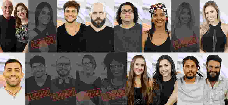 Participantes que continuam na disputa depois do sexto paredão  - Montagem/Globo/ Paulo Belote