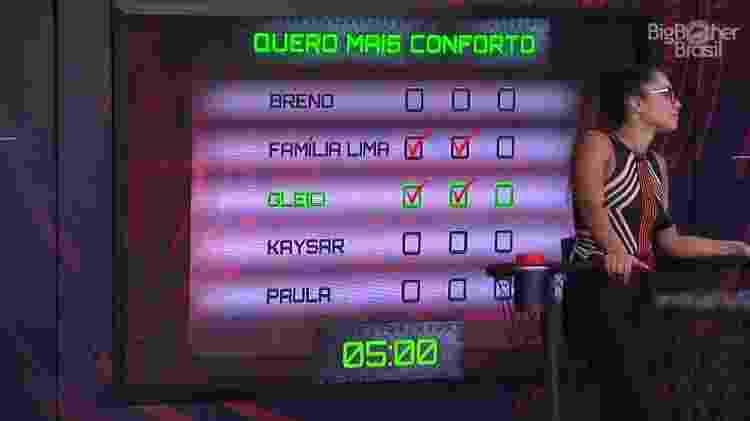 Placar prova - Reprodução/GloboPlay - Reprodução/GloboPlay