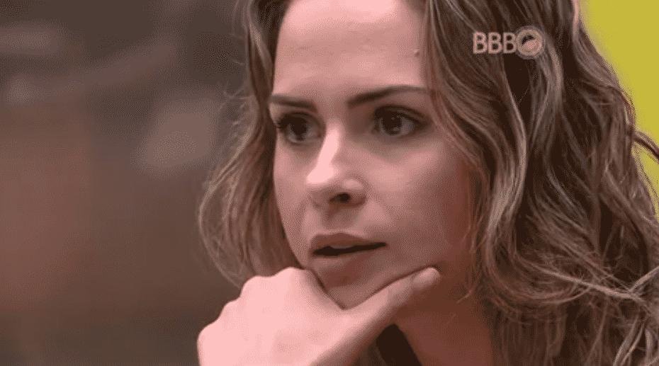 """24.fev.2016 - Ana Paula e Renan voltam a discutir no """"BBB16"""" - Reprodução/TV Globo"""