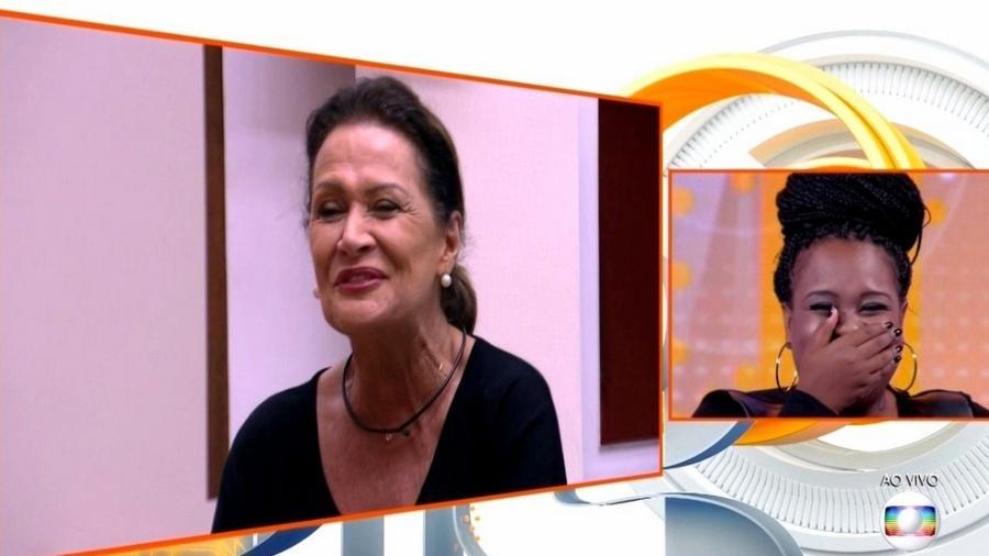 Ieda erra o nome de Roberta durante o programa ao vivo - Reprodução/TV Globo