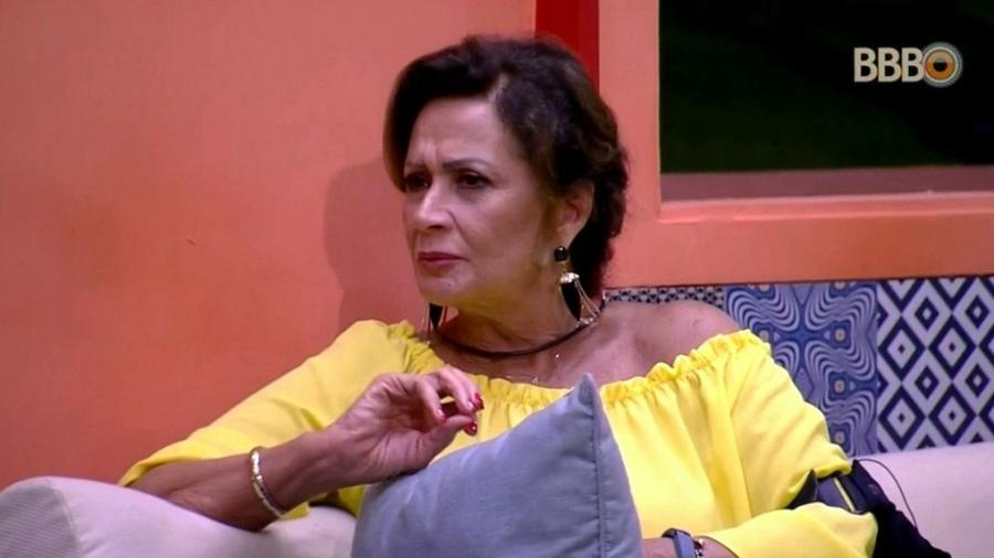 Ieda está com medo de possíveis surpresas nos últimos dias de confinamento - Reprodução/TV Globo