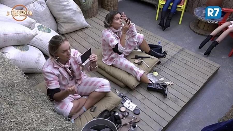 Monick e Flávia conversam sobre dieta fora do reality show  - Reprodução/R7