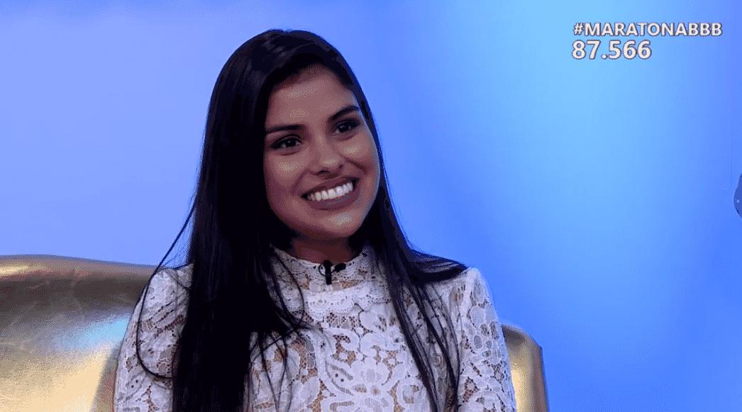 """6.abr.2016 - Munik, vencedora do """"BBB16"""", disse não saber o que fará com o prêmio de R$ 1,5 milhão, mas garantiu: """"Quero que o meu pai deixa de trabalhar"""". O pai de Pequi trabalha como motoboy - Reprodução/TV Globo"""
