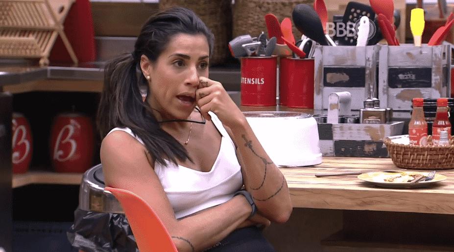 """17.fev.2016 - Juliana fala sobre Paula Fernandes, no """"BBB16"""" - Reprodução/TV Globo"""