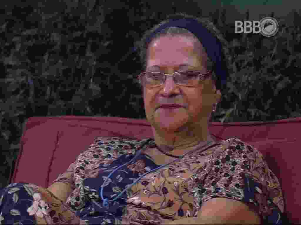 """7.mar.2016 - Geralda diz que esperava que Renan se colocasse no paredão para enfrentar Ronan. """"Faltou coragem"""" - Reprodução/TV Globo"""