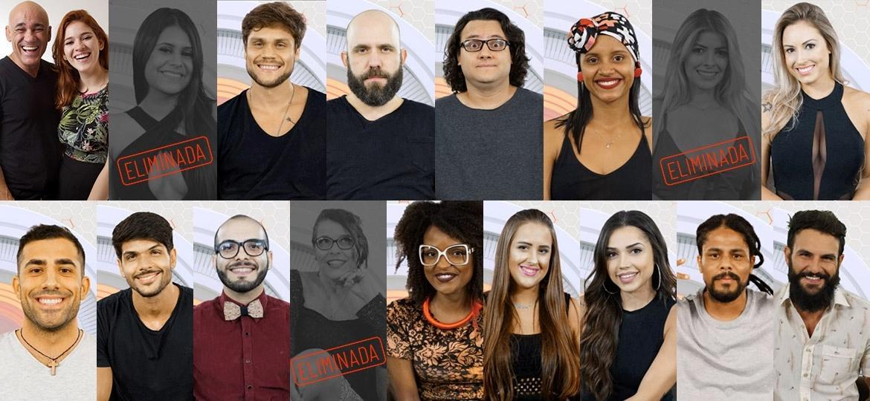 Participantes que seguem na disputa após terceiro paredão  - Montagem/Globo/ Paulo Belote