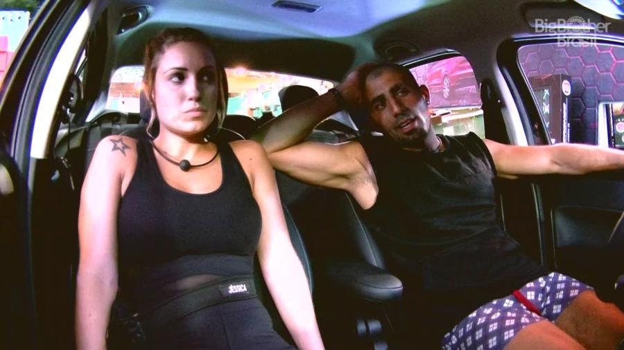 Jéssica e Kaysar conversaram durante décima prova do líder - Reprodução/GloboPlay