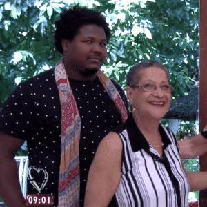 6.abr.2016 - Ronan e Geralda foram os primeiros convidados a chegarem ao programa - Reprodução/ TV Globo