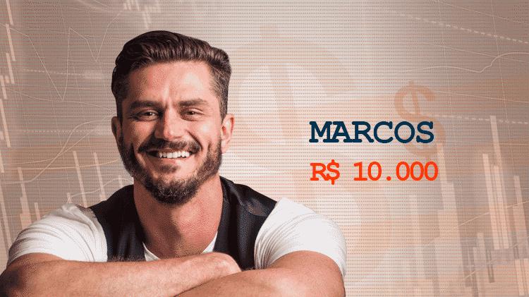 Cotação Semana 1 BBB17 Marcos - Divulgação/TV Globo e Arte/UOL - Divulgação/TV Globo e Arte/UOL