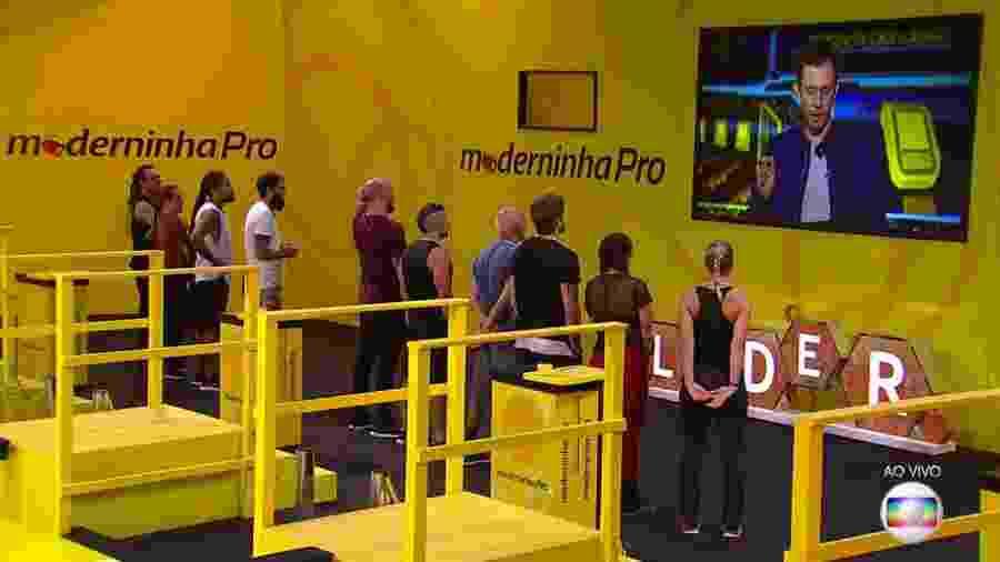 Brothers participam da sétima prova do líder - Reprodução/TvGlobo
