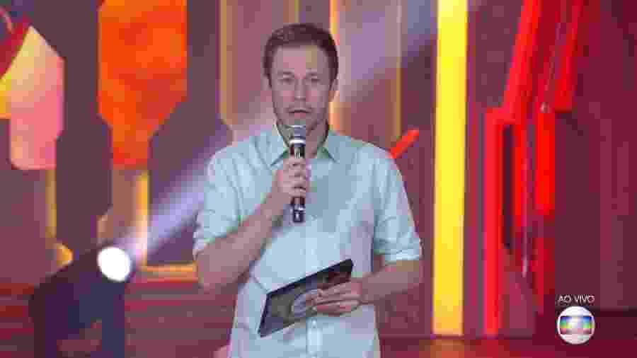 Tiago Leifert anuncia o fim da votação do quarto paredão - Reprodução/TvGlobo