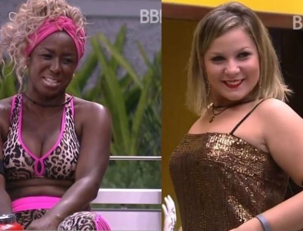 """Após um mês de confinamento no """"BBB16"""", Adélia e Cacau foram as participantes que mais emagreceram - Reprodução//TV Globo"""