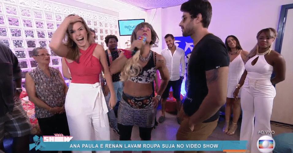 6.abr.2016 - Joaquim Lopes coloca Ana Paula e Renan frente a frente