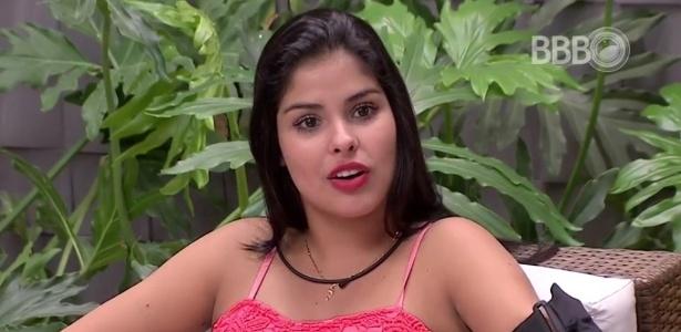 A cara de Munik ao descobrir que o rapaz que beijou era um ator contratado - Reprodução/TV Globo
