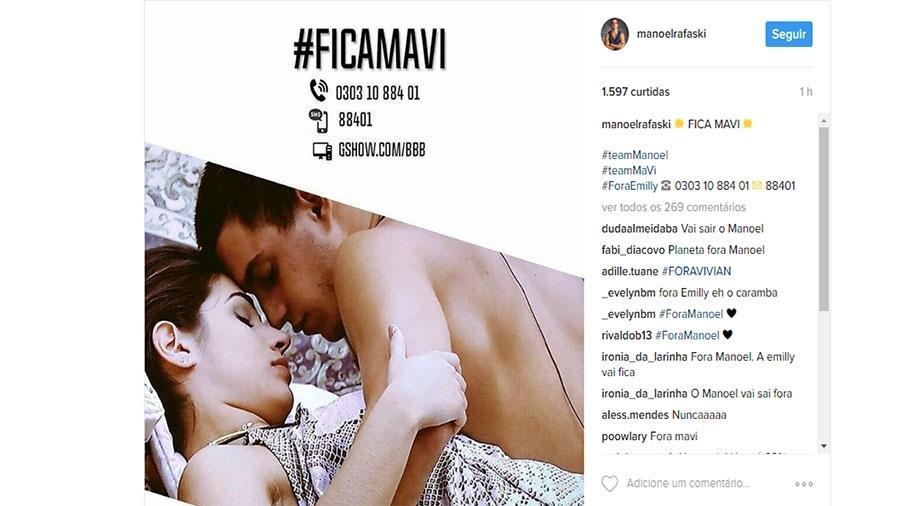 Campanha pede permanência do casal Vivian e Manoel - Reprodução