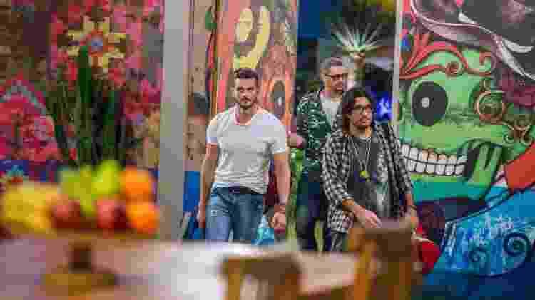 """Marcos, Ilmar e Daniel chegam ao lado """"mexicano"""" do """"BBB17"""" - Paulo Belote/Divulgação/TV Globo - Paulo Belote/Divulgação/TV Globo"""