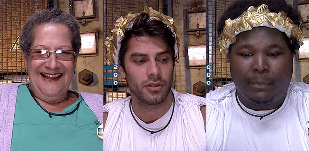 Geralda foi indicada pelo voto extra de Renan, Ronan foi o mais votado no confessionário e Renan foi indicado pela líder Munik - Reprodução/TV Globo
