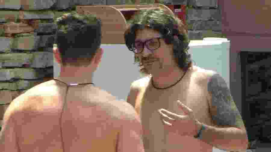 """Marcos e Ilmar falam de vitimismo no """"BBB"""" - Reprodução/TVGlobo"""