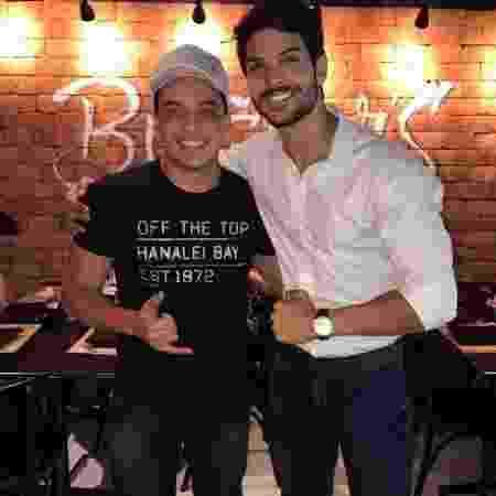 """Lucas Fernandes, do """"BBB 18"""", recebeu Wesley Safadão em seu restaurante - Reprodução/Instagram - Reprodução/Instagram"""