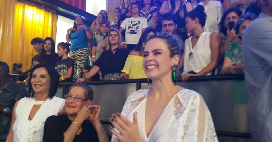 5.abr.2016 - Ana Paula feliz após a vitória de Munik, sua melhor amiga no confinamento