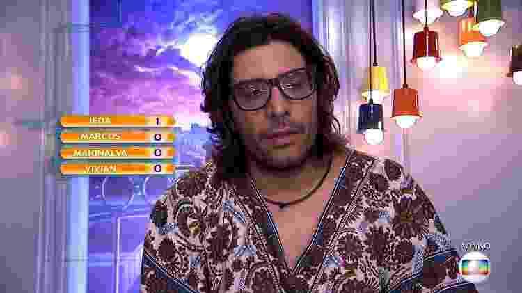"""Ilmar vota no décimo paredão do """"BBB17"""" - Reprodução/TV Globo - Reprodução/TV Globo"""