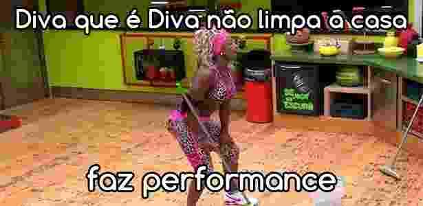 Diva profissões Adélia - Reprodução/TV Globo e Montagem/Diva Depressão - Reprodução/TV Globo e Montagem/Diva Depressão