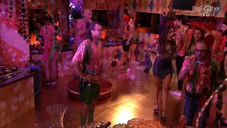 """Festa """"Samba"""" no segundo andar na casa do """"BBB18"""" - Reprodução/GloboPlay"""