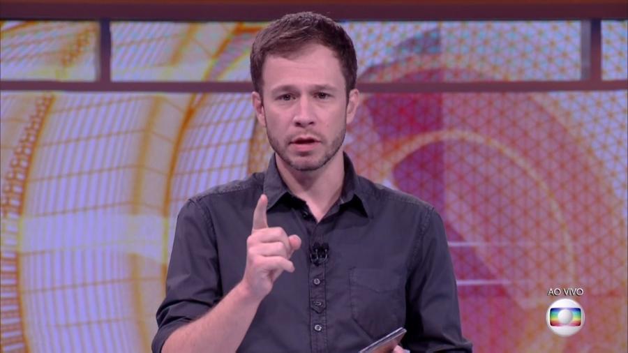 Tiago Leifert anuncia as regras da prova do líder dessa semana - Reprodução/TV Globo