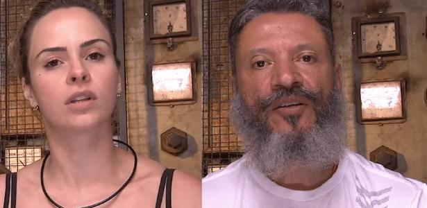 """31.jan.2016 - Ana Paula e Laércio estão no segundo paredão do """"BBB16"""" - Reprodução/TV Globo"""