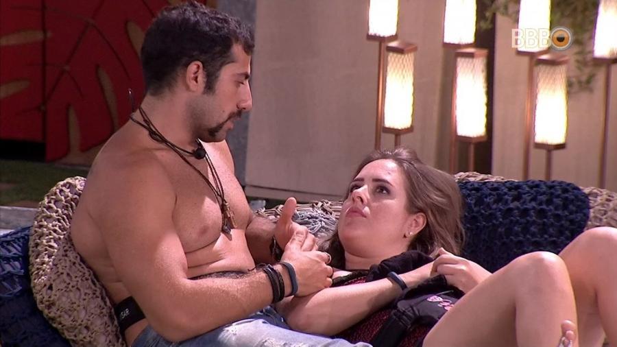 Kaysar e Patrícia falam sobre seus sentimentos - Reprodução/GlobosatPlay