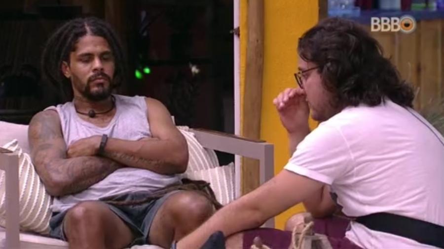 Diego conversa sobre votação com Viegas - Reprodução/Globosatplay