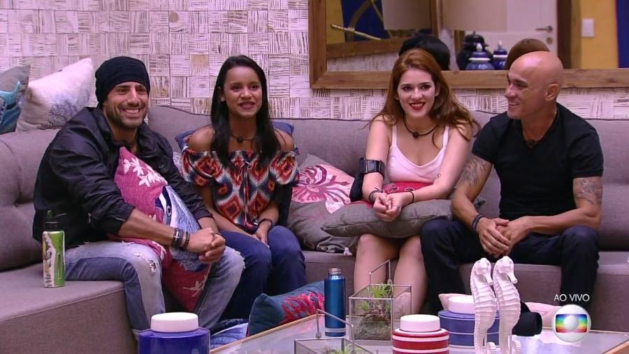"Gleici, Kaysar, Ana Clara e Ayrton, os finalistas do ""BBB18"" - Reprodução/TvGlobo"
