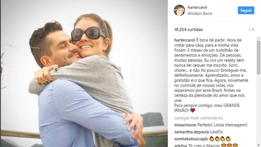 Irmã de Marcos faz desabafo em rede social - Reprodução/Instagram