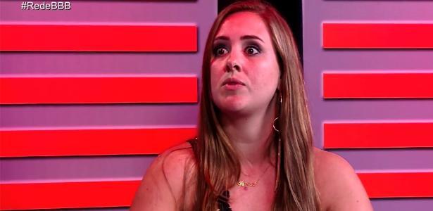"""Fora da cara, Patrícia participa do programa """"RedeBBB"""""""