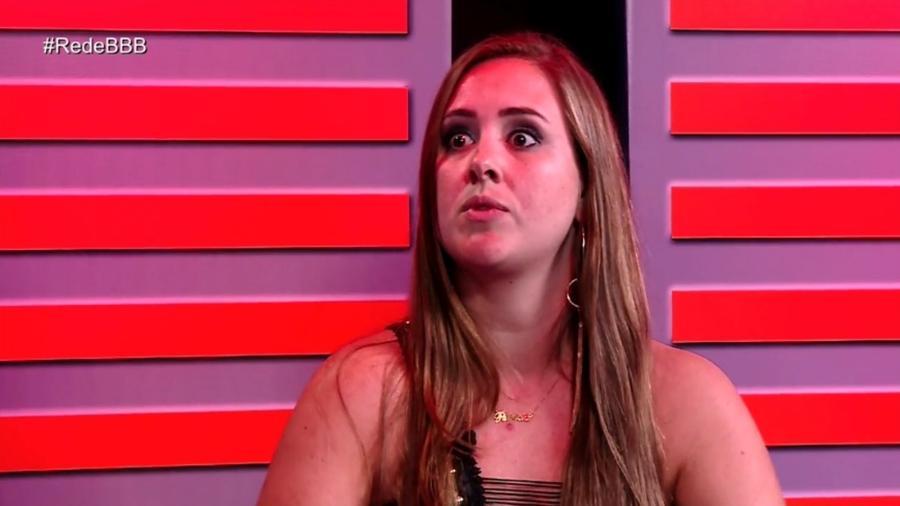 """Fora da cara, Patrícia participa do programa """"RedeBBB"""" - Reprodução/Gshow"""