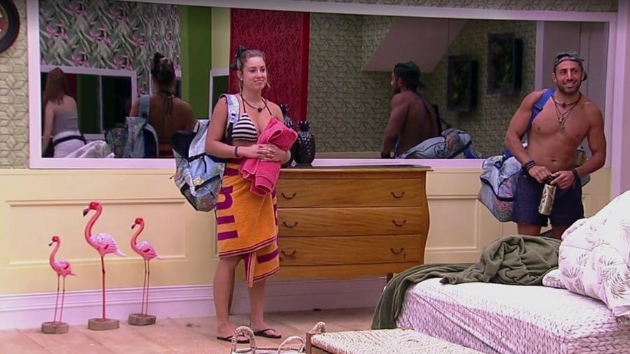 Jéssica e Kaysar se despedem do quarto tropical  - Reprodução/Gshow