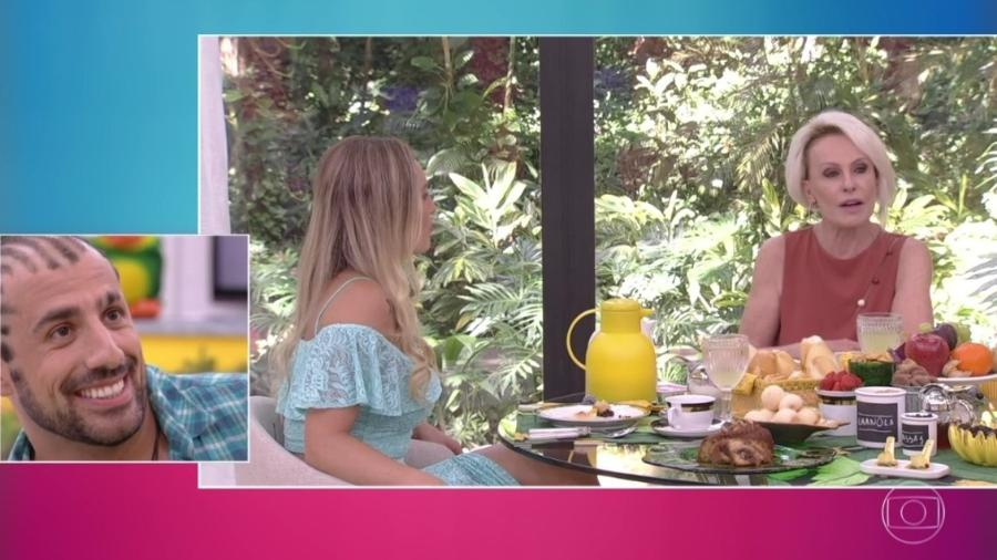 """Kaysar assiste entrevista de Jéssica no """"Mais Você"""" - Reprodução/Globoplay"""